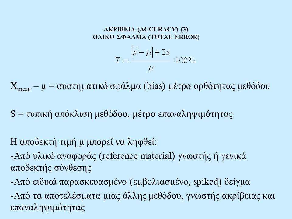 ΑΚΡΙΒΕΙΑ (ACCURACY) (3) ΟΛΙΚΟ ΣΦΑΛΜΑ (TOTAL ERROR)