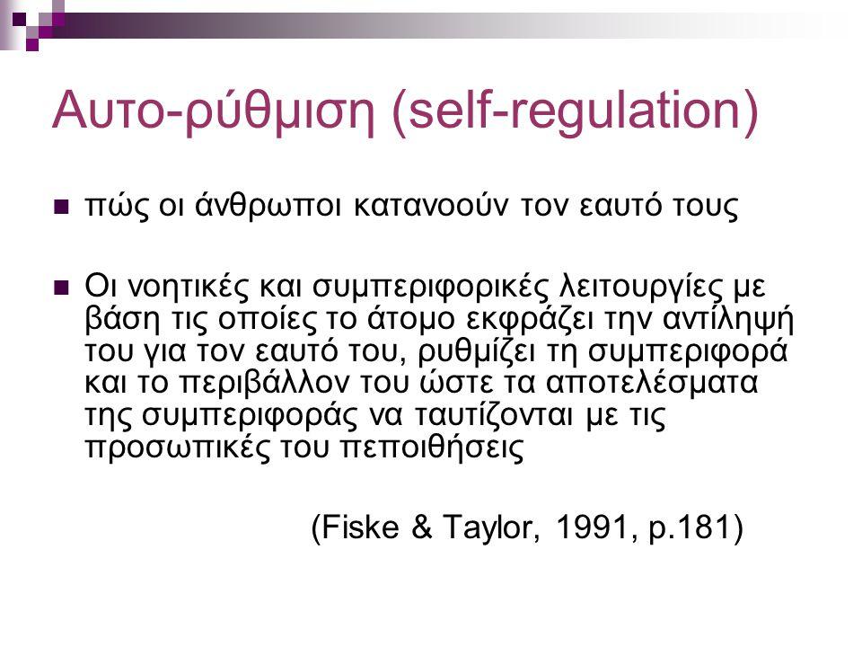 Αυτο-ρύθμιση (self-regulation)