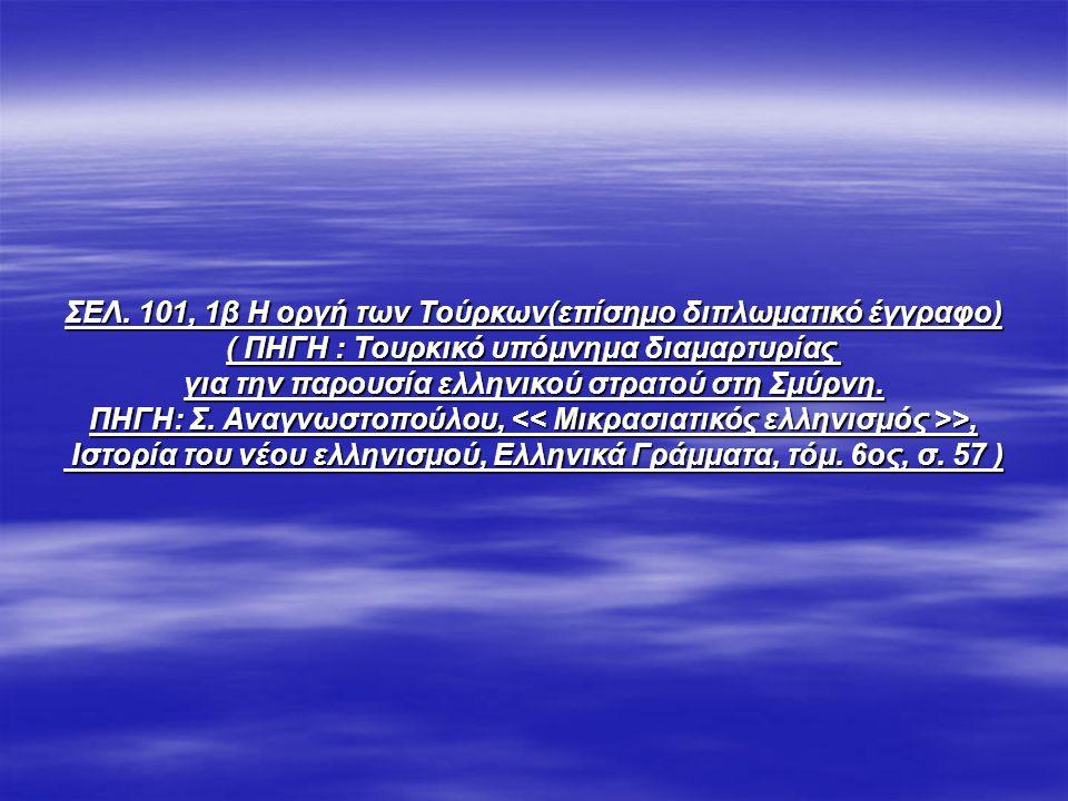 ΣΕΛ. 101, 1β Η οργή των Τούρκων(επίσημο διπλωματικό έγγραφο)