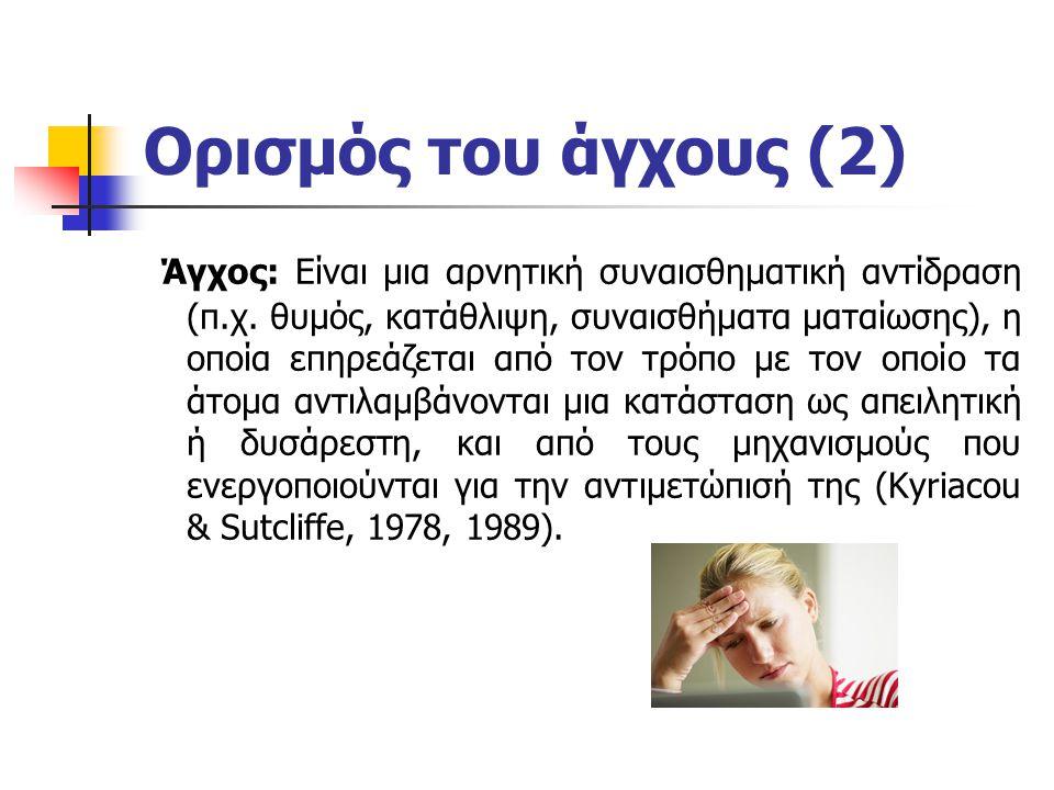 Ορισμός του άγχους (2)