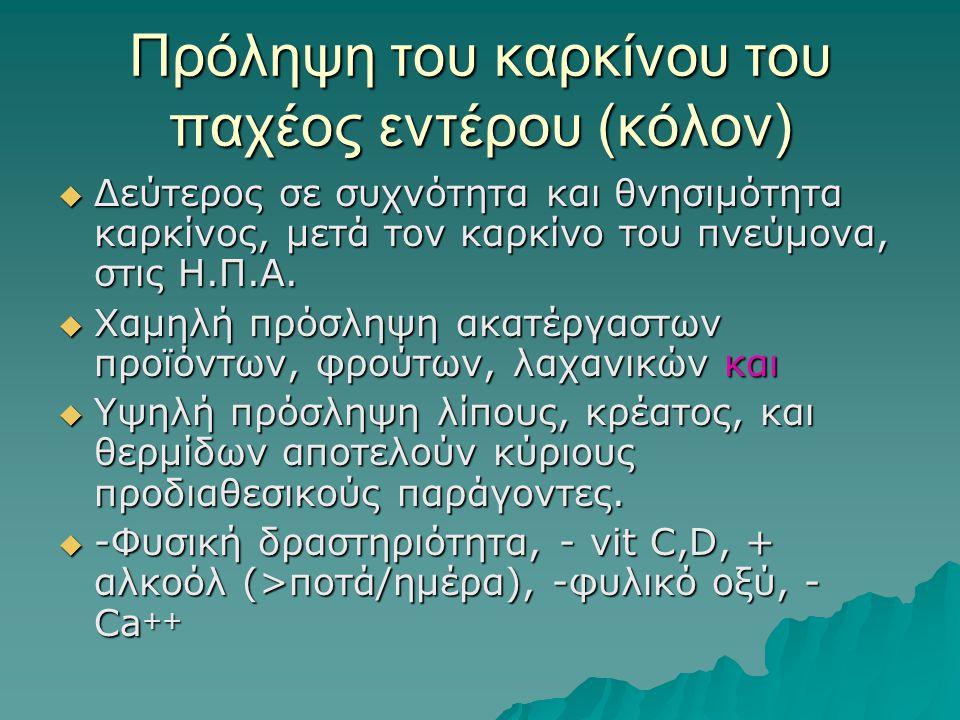 Πρόληψη του καρκίνου του παχέος εντέρου (κόλον)