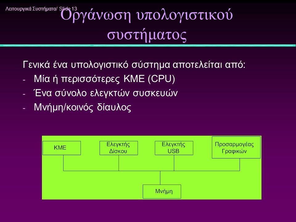 Οργάνωση υπολογιστικού συστήματος