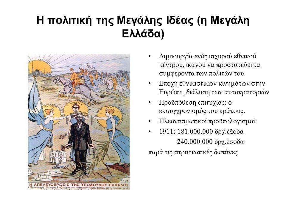 Η πολιτική της Μεγάλης Ιδέας (η Μεγάλη Ελλάδα)