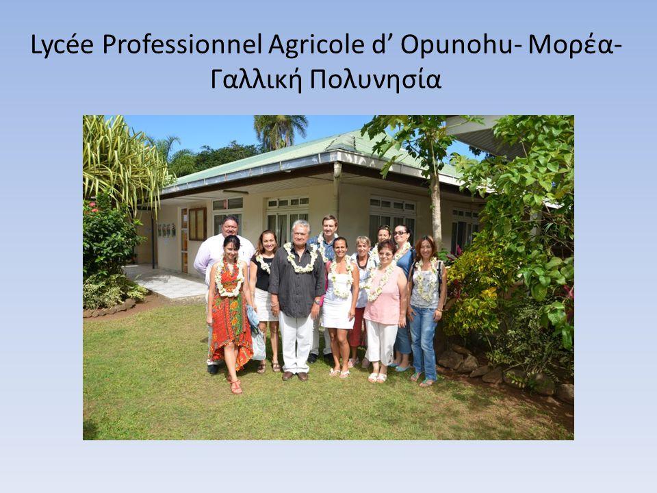 Lycée Professionnel Agricole d' Opunohu- Μορέα- Γαλλική Πολυνησία
