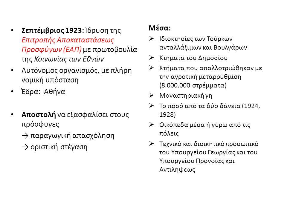 Αυτόνομος οργανισμός, με πλήρη νομική υπόσταση Έδρα: Αθήνα