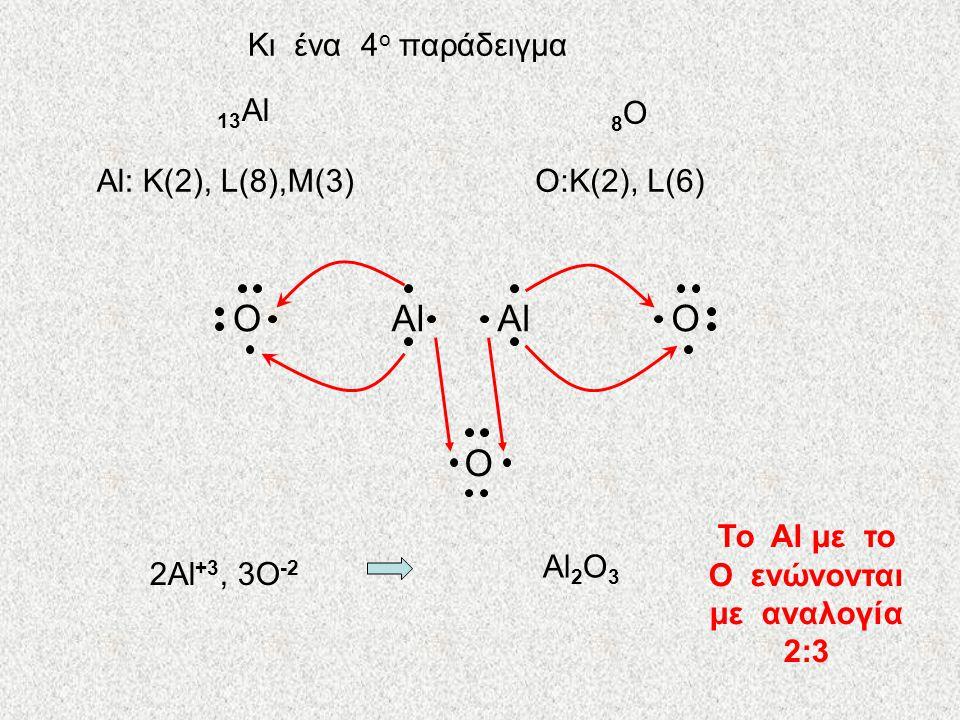 Το Al με το O ενώνονται με αναλογία 2:3