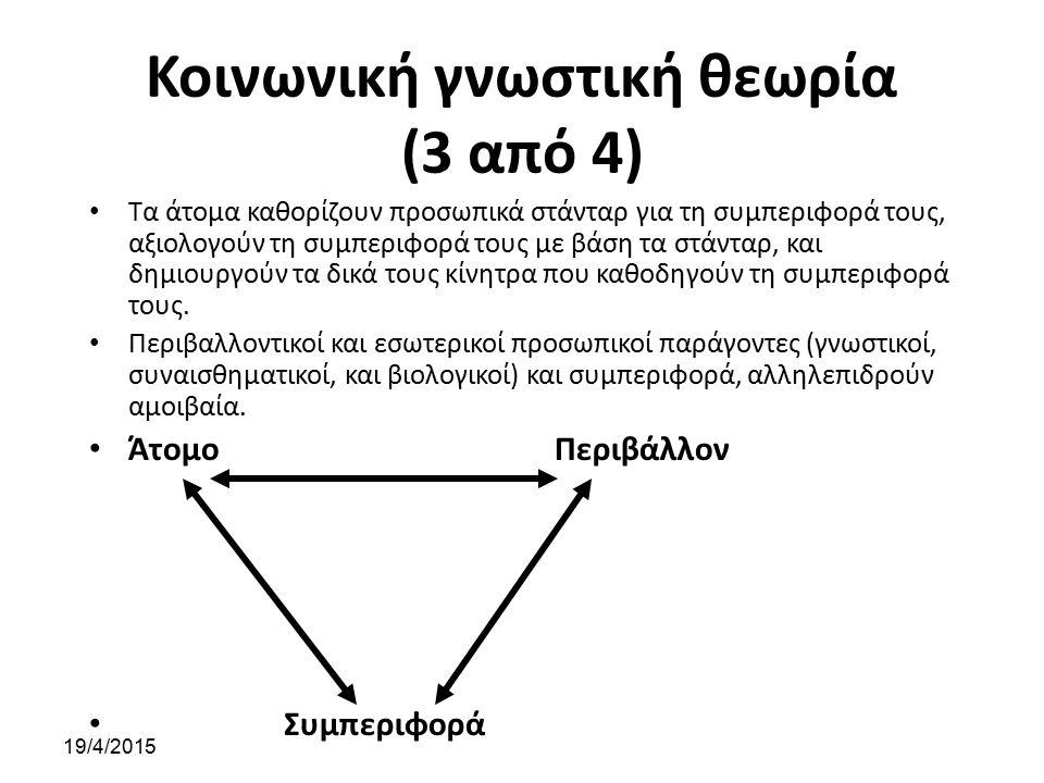 Κοινωνική γνωστική θεωρία (3 από 4)