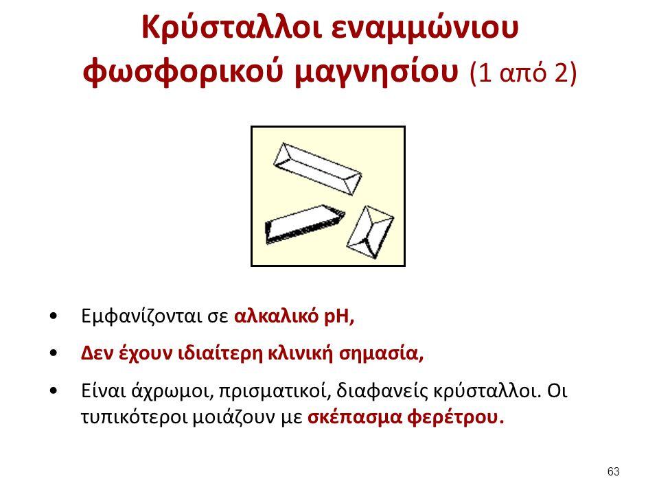Κρύσταλλοι εναμμώνιου φωσφορικού μαγνησίου (2 από 2)