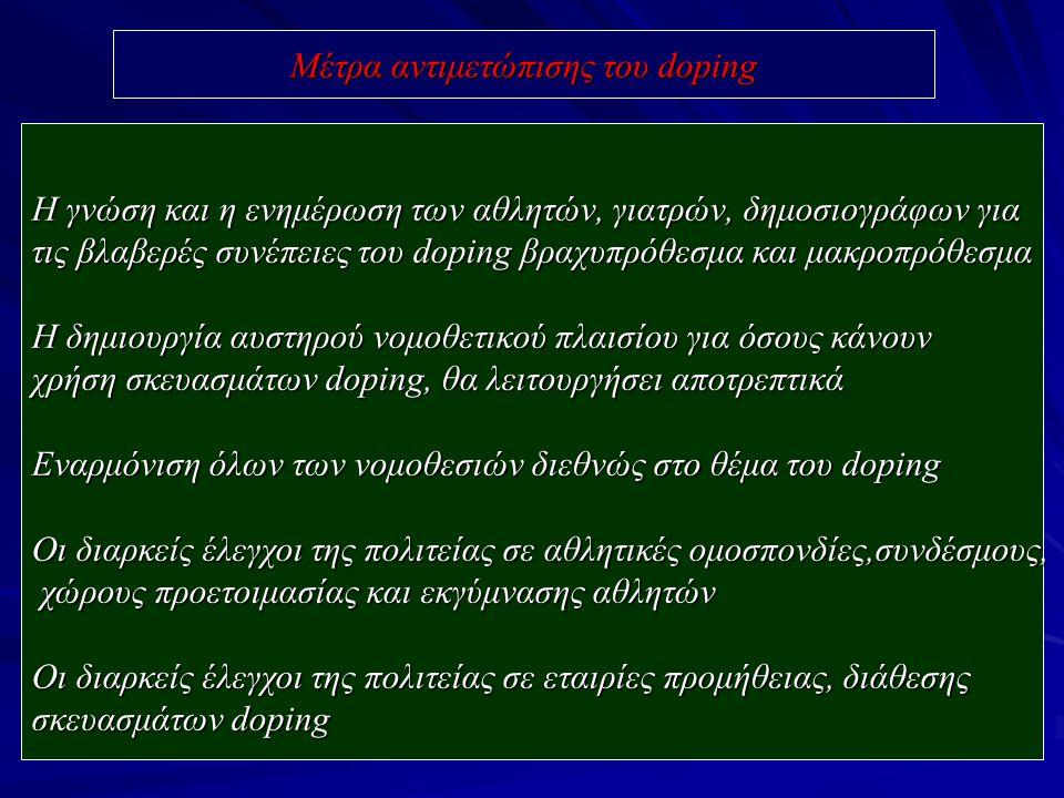 Μέτρα αντιμετώπισης του doping