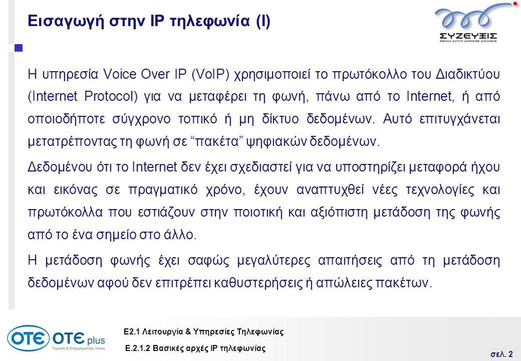 Εισαγωγή στην IP τηλεφωνία (Ι)