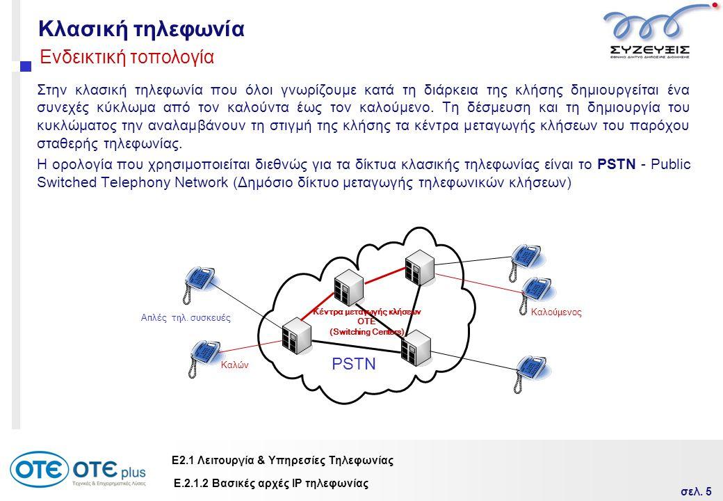 Κέντρα μεταγωγής κλήσεων ΟΤΕ