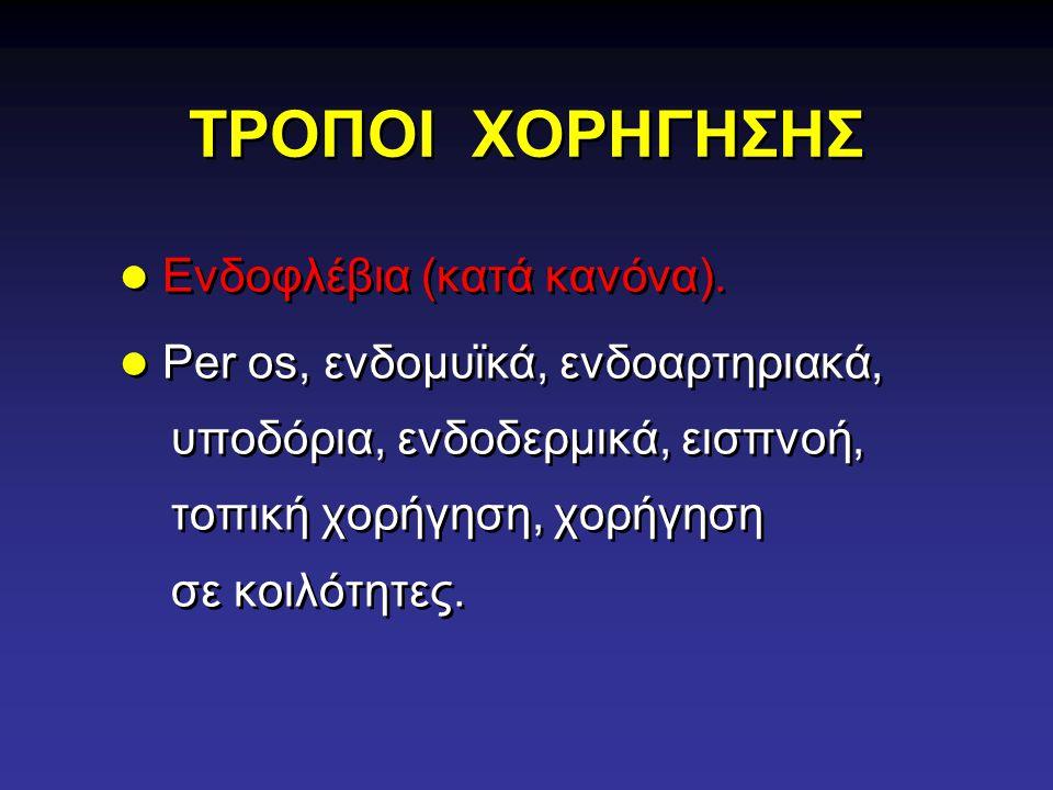 ΤΡΟΠΟΙ ΧΟΡΗΓΗΣΗΣ Ενδοφλέβια (κατά κανόνα).
