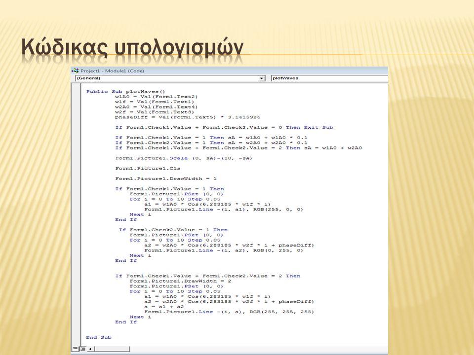 Κώδικας υπολογισμών