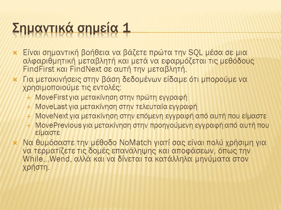 Σημαντικά σημεία 1