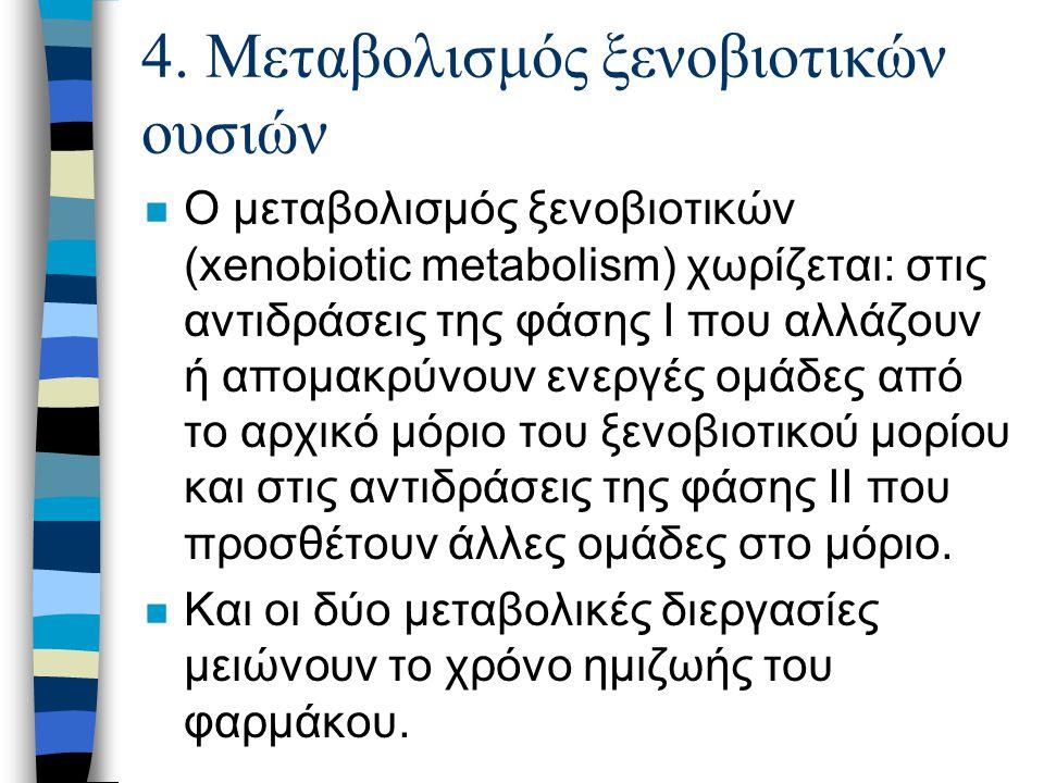 4. Μεταβολισμός ξενοβιοτικών ουσιών