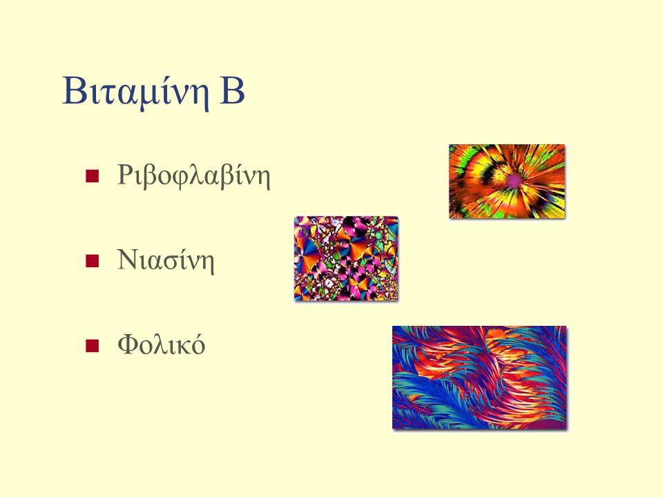 Βιταμίνη Β Ριβοφλαβίνη Νιασίνη Φολικό