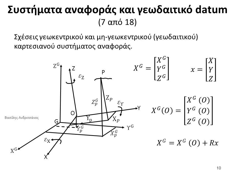 Συστήματα αναφοράς και γεωδαιτικό datum (8 από 18)