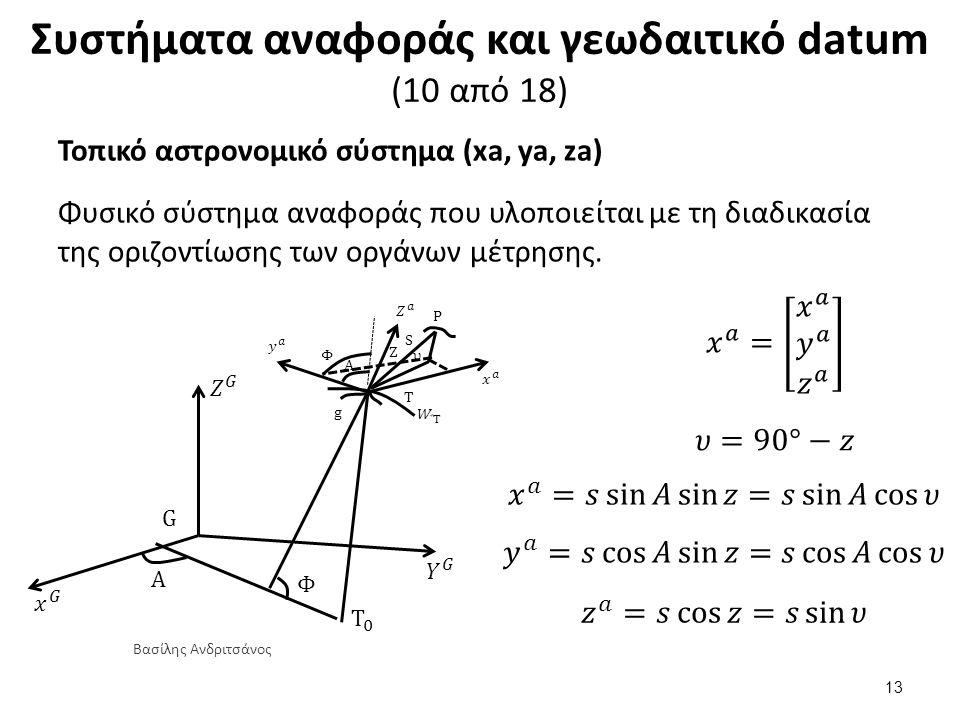 Συστήματα αναφοράς και γεωδαιτικό datum (11 από 18)
