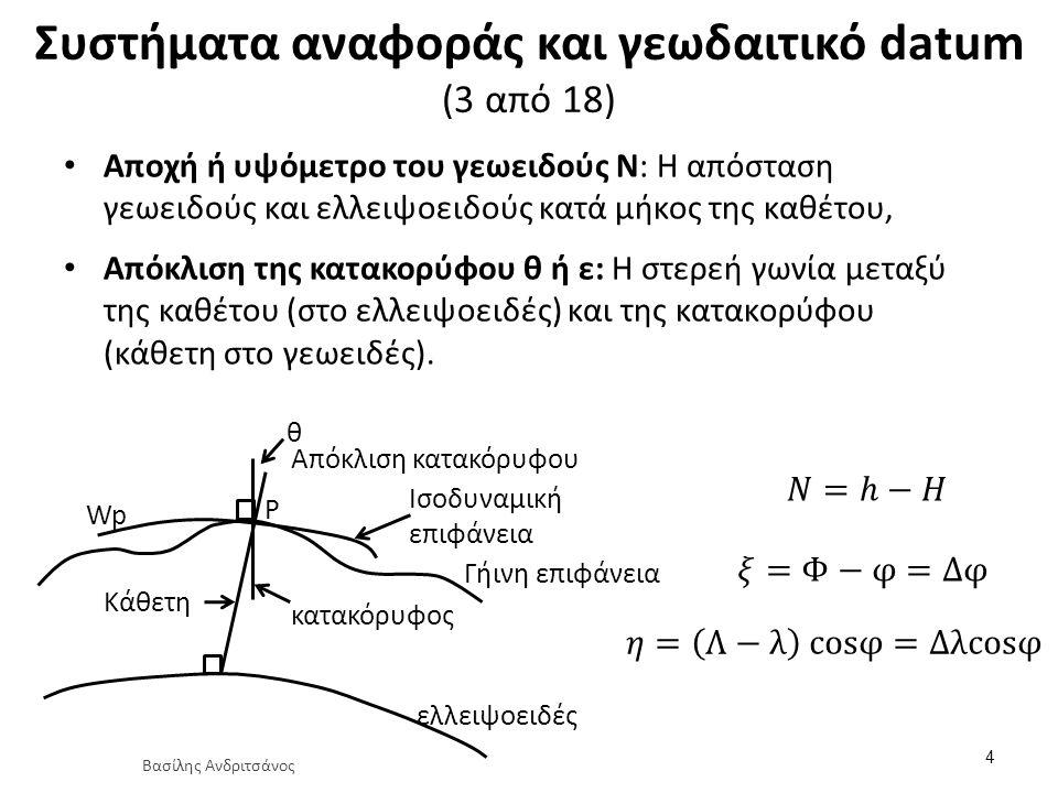 Συστήματα αναφοράς και γεωδαιτικό datum (4 από 18)