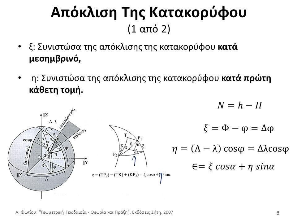 Απόκλιση Της Κατακορύφου (2 από 2)
