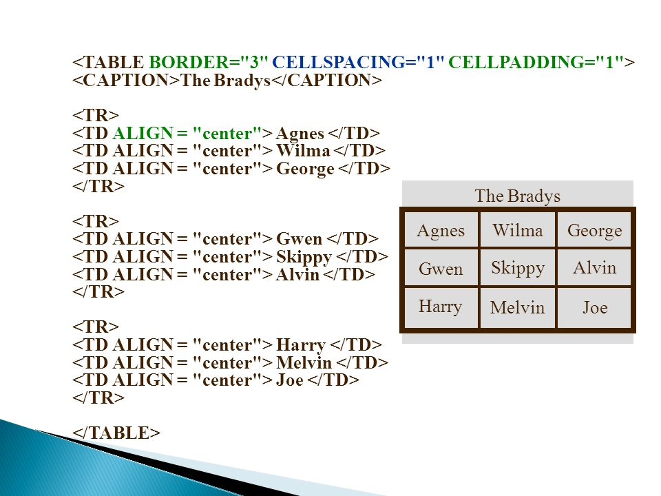 <TABLE BORDER= 3 CELLSPACING= 1 CELLPADDING= 1 >