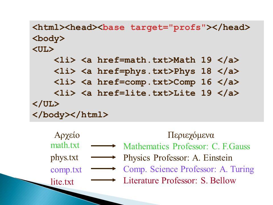 <html><head><base target= profs ></head>