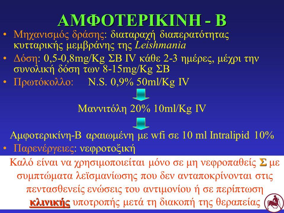 Αμφοτερικίνη-Β αραιωμένη με wfi σε 10 ml Intralipid 10%
