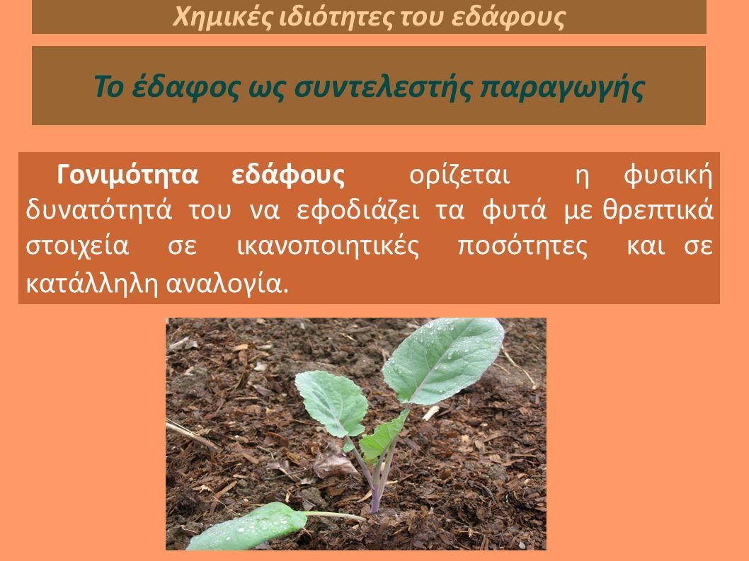 Χημικές ιδιότητες του εδάφους