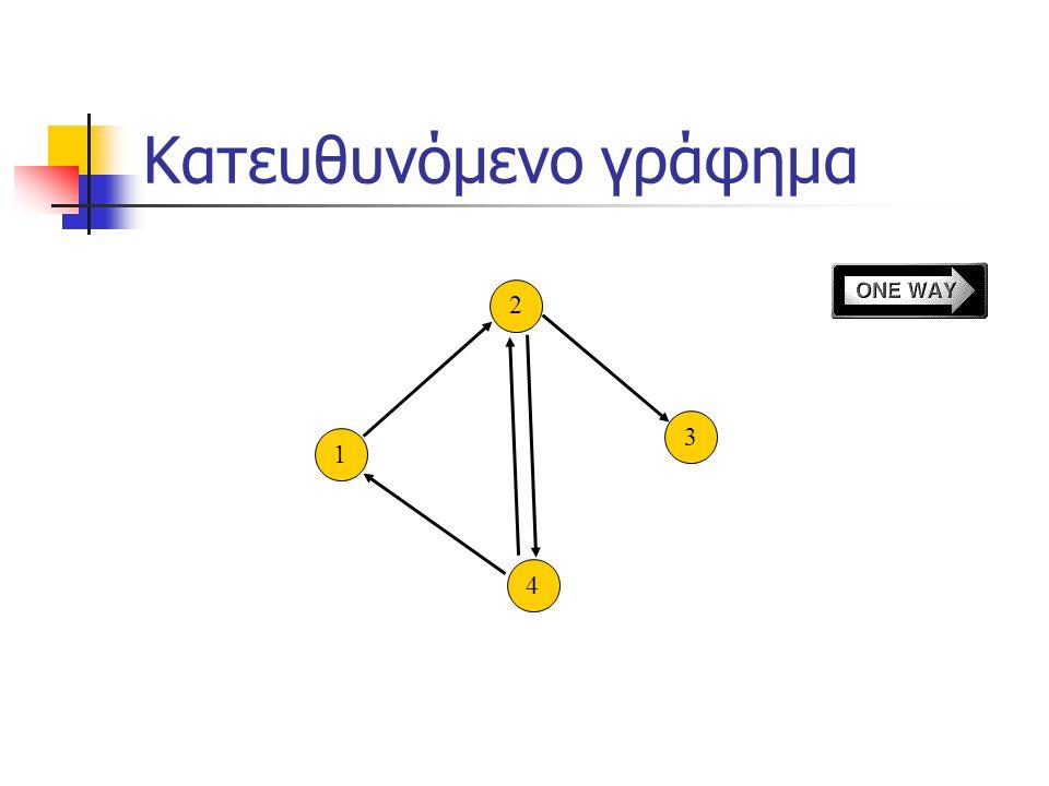 Κατευθυνόμενο γράφημα