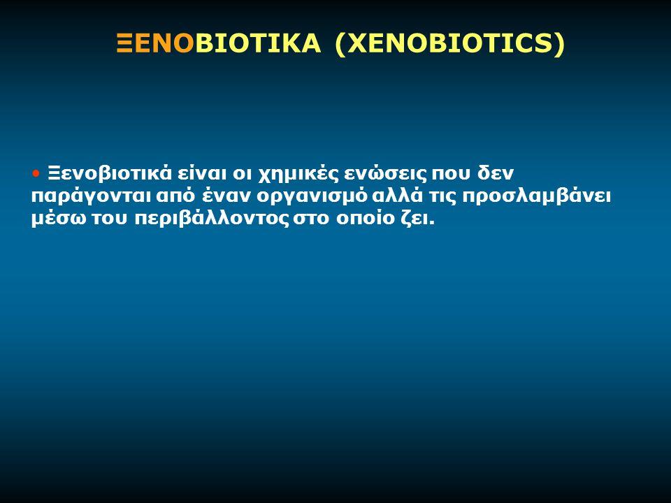 ΞΕΝΟΒΙΟΤΙΚΑ (XENOBIOTICS)