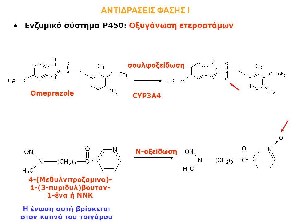 ΑΝΤΙΔΡΑΣΕΙΣ ΦΑΣΗΣ Ι Ενζυμικό σύστημα Ρ450: Οξυγόνωση ετεροατόμων
