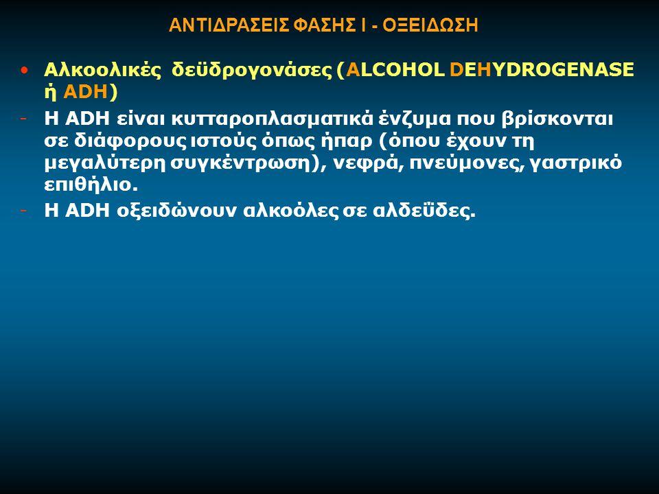 ΑΝΤΙΔΡΑΣΕΙΣ ΦΑΣΗΣ Ι - ΟΞΕΙΔΩΣΗ
