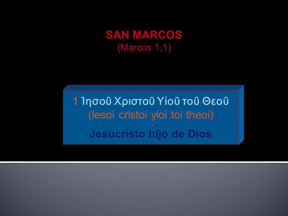 Jesucristo hijo de Dios