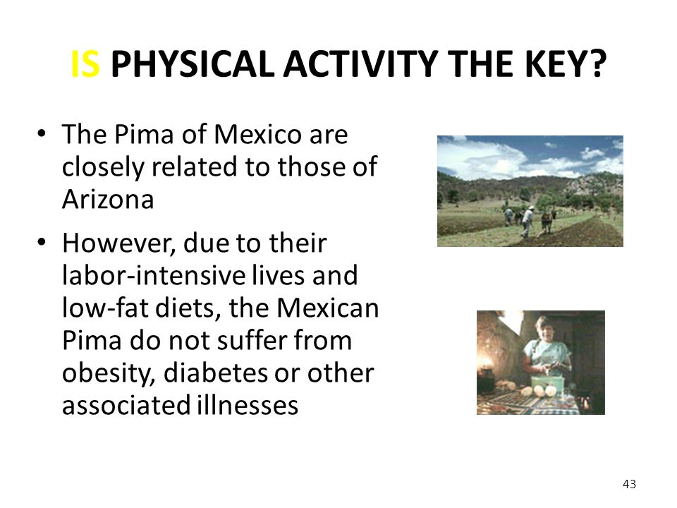 IS PHYSICAL ACTIVITY THE KEY