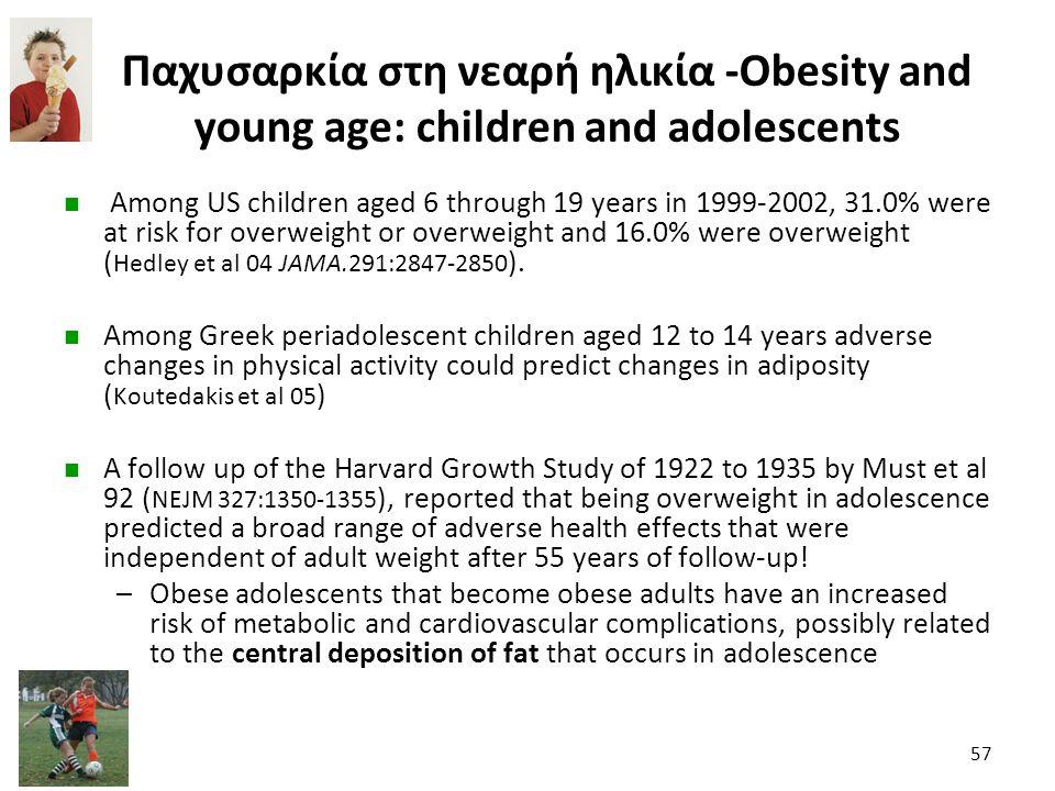 Παχυσαρκία στη νεαρή ηλικία -Obesity and young age: children and adolescents