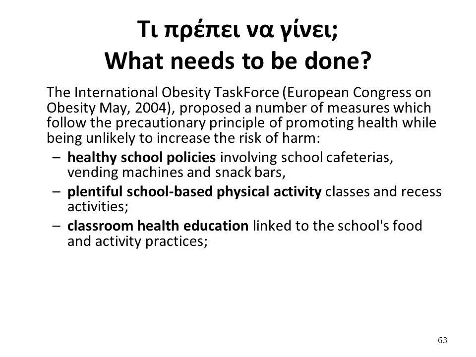 Τι πρέπει να γίνει; What needs to be done