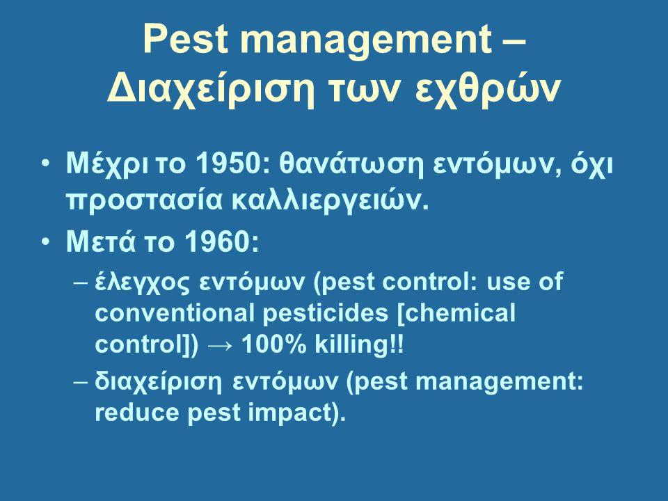 Pest management – Διαχείριση των εχθρών
