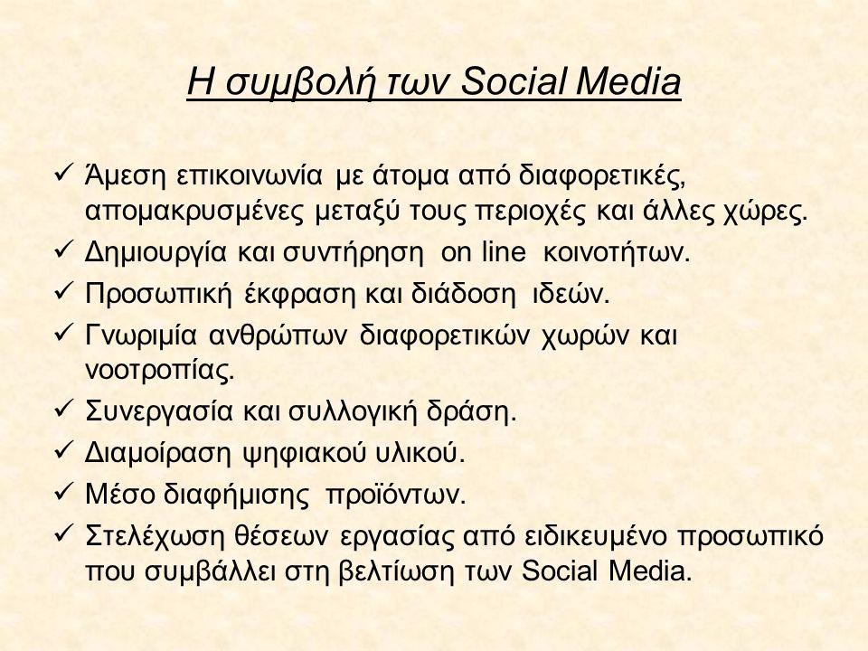 Η συμβολή των Social Media