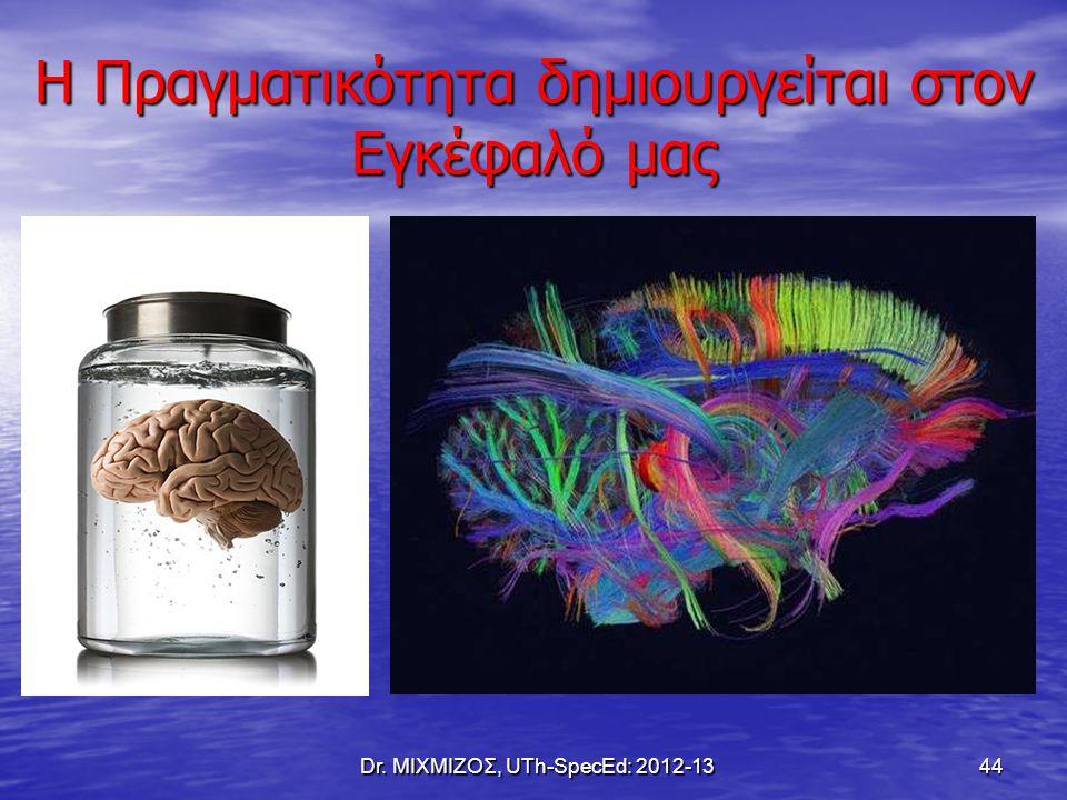 Η Πραγματικότητα δημιουργείται στον Εγκέφαλό μας