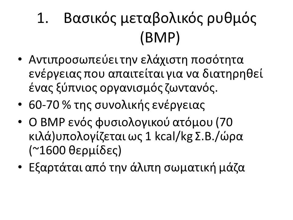 Βασικός μεταβολικός ρυθμός (ΒΜΡ)