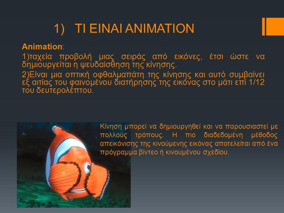 1) ΤΙ ΕΙΝΑΙ ΑΝΙΜΑΤΙΟΝ Animation: