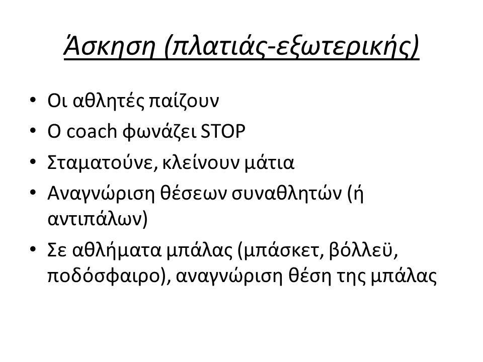 Άσκηση (πλατιάς-εξωτερικής)