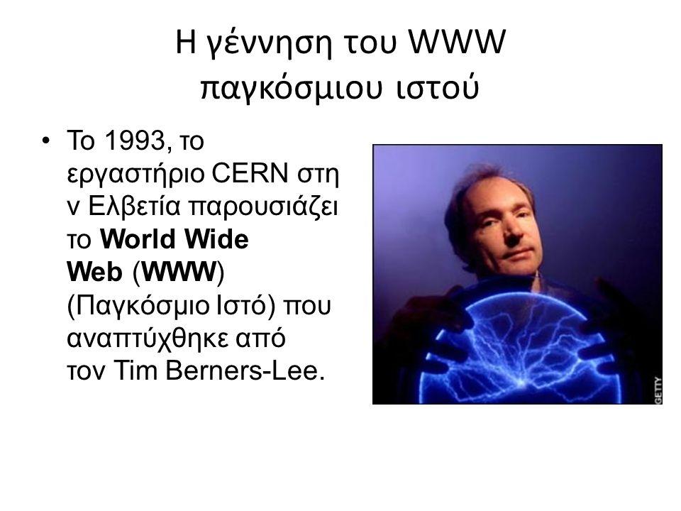 Η γέννηση του WWW παγκόσμιου ιστού