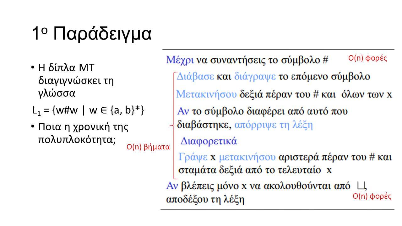 1ο Παράδειγμα Η δίπλα ΜΤ διαγιγνώσκει τη γλώσσα
