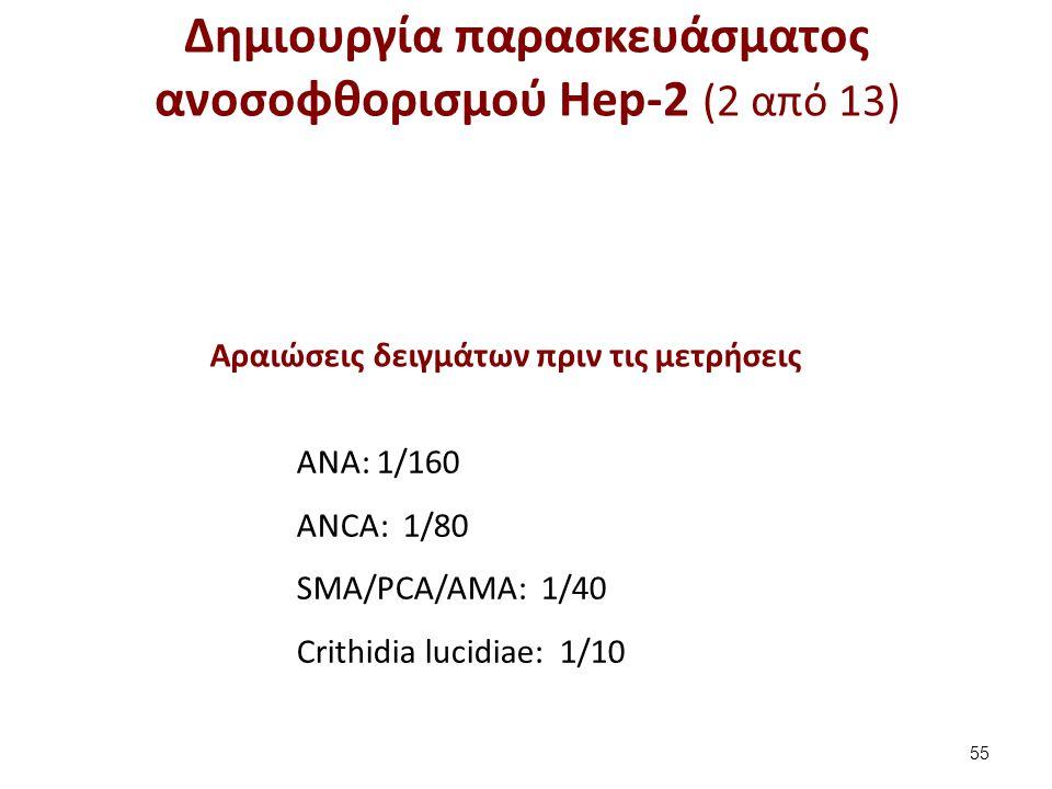 Δημιουργία παρασκευάσματος ανοσοφθορισμού Hep-2 (3 από 13)