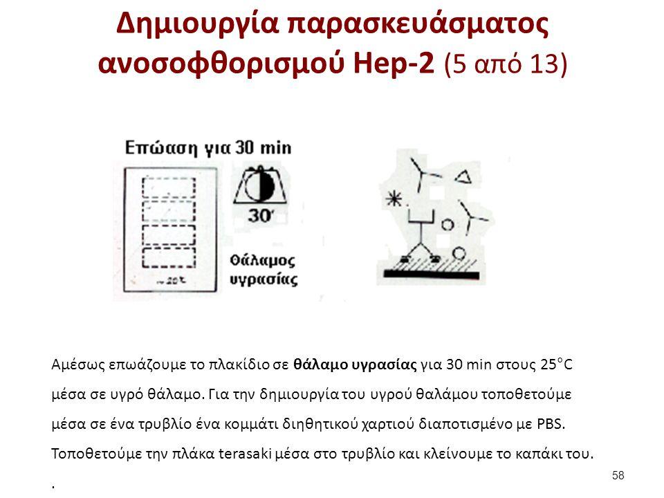 Δημιουργία παρασκευάσματος ανοσοφθορισμού Hep-2 (6 από 13)