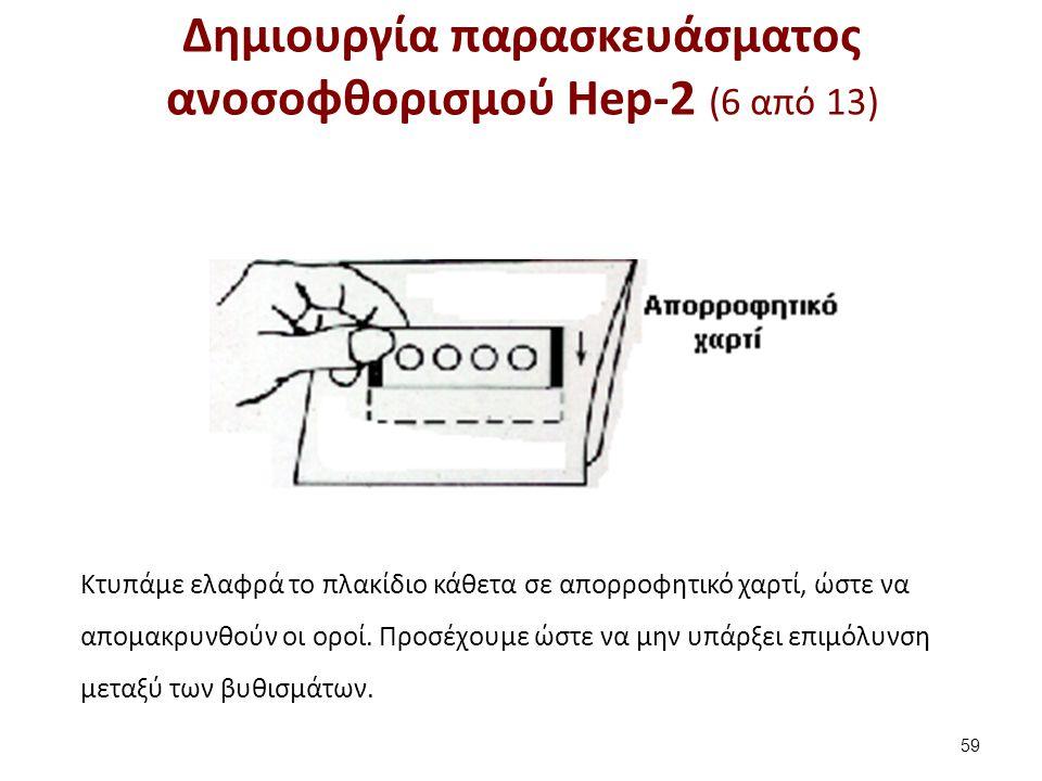 Δημιουργία παρασκευάσματος ανοσοφθορισμού Hep-2 (7 από 13)