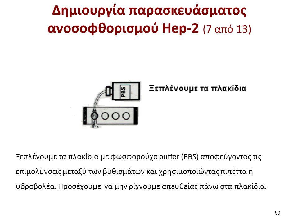 Δημιουργία παρασκευάσματος ανοσοφθορισμού Hep-2 (8 από 13)