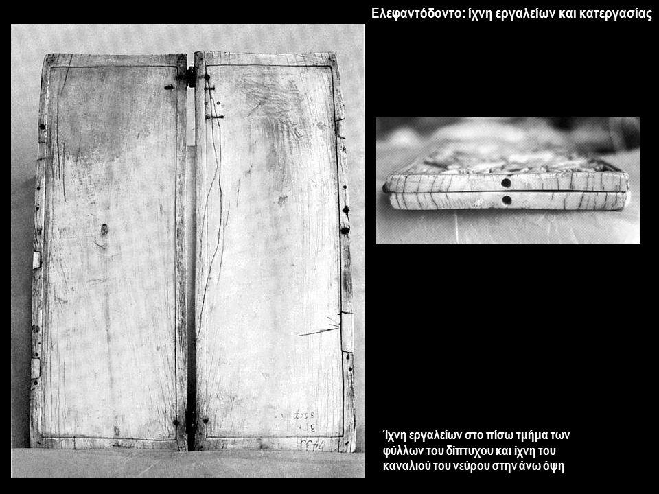 Ελεφαντόδοντο: ίχνη εργαλείων και κατεργασίας
