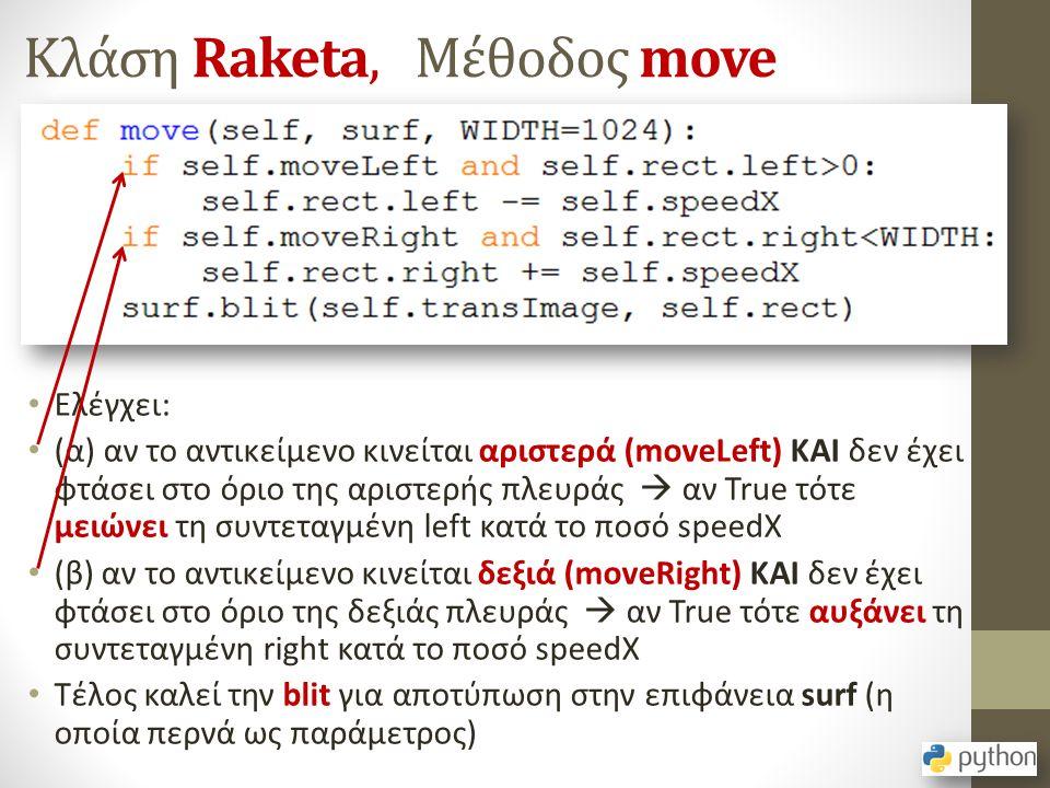 Κλάση Raketa, Μέθοδος move